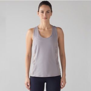 Lululemon Embodiment Tank Singlet Mesh Dark Grey